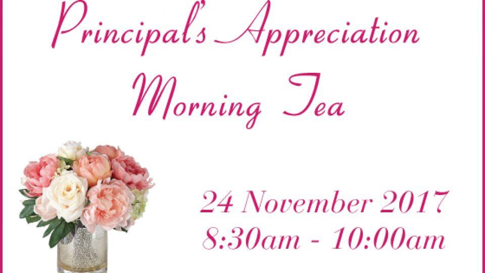 Principal's Appreciation Morning Tea