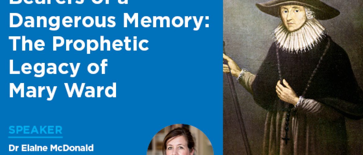 Mary Ward Public Lecture on Monday evening – book now!