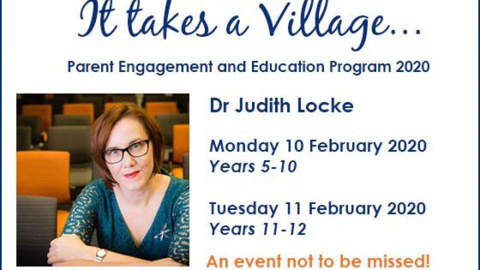 Dr Judith Locke – Parent Education Sessions